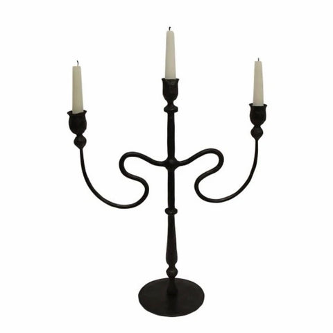 Raine Wrought Iron Candleabra | Medium