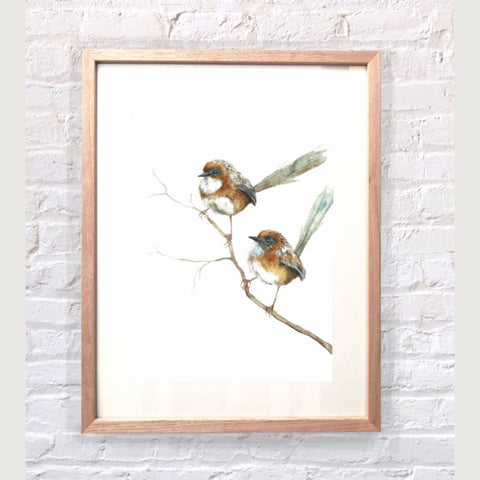 Framed Limited Edition Print | Wrens | Autumn