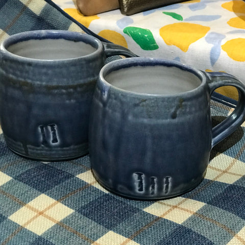 Handmade Pottery Mugs | Denim