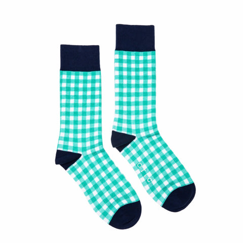 ORTC - Mens Socks | Green Gingham