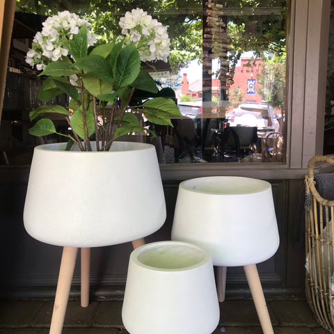 Cloud Terrazzo Pots with Legs | Large