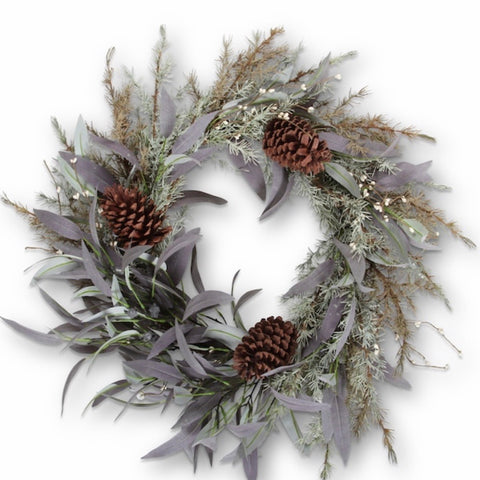 Christmas Wreath | Eucalyptus and Pine Cone