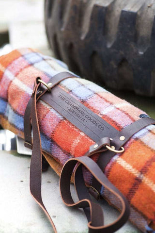 Genuine Leather Blanket Carriers | The Grampians Goods Co