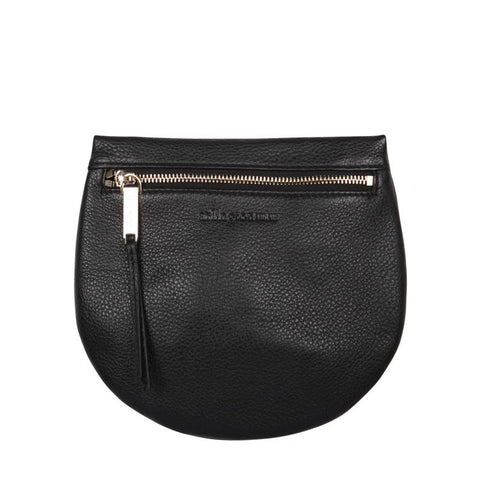 macy zip clutch in black by arlington milne at Unearthed Homewares