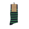 ORTC - Mens Socks | Navy + Green Stripe