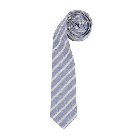 ORTC - Cotton/ Linen Tie - Alfred | Blue and White