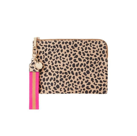 paige clutch in spot suede with wristlet by arlington milne at Unearthed Homewares