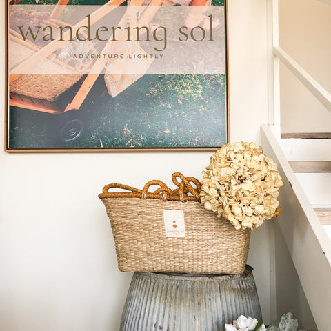 the shopper market basket by wandering sol at Unearthed Homewares