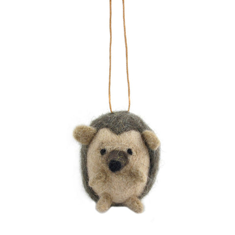 wool hanging xmas decor echidna