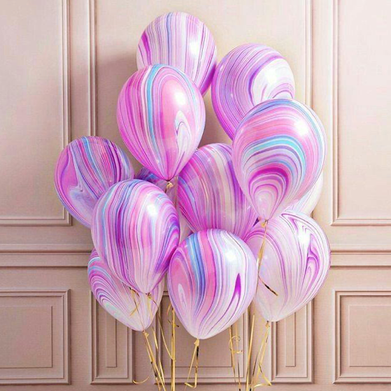 Superagate balloons in bunch pink color
