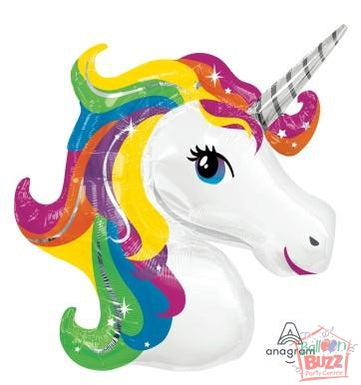 GEN Rainbow Unicorn 33-inch Helium-Filled Foil Balloon