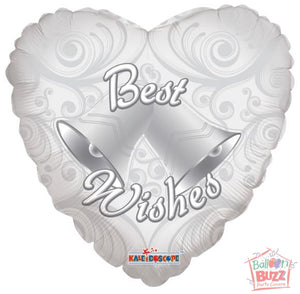 18-inch - Best Wishes Bells - Helium-Filled Foil Balloon