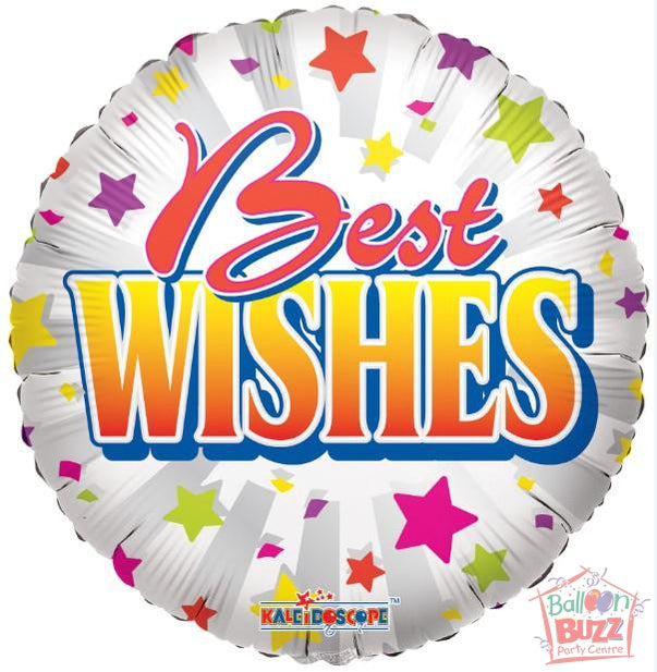 18-inch - Best Wishes Stars - Helium-Filled Foil Balloon