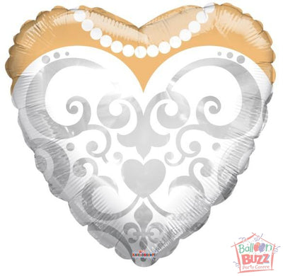 18-inch - Bride's Dress - Helium-Filled Foil Balloon