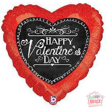 18-inch - Helium-Filled Red Heart Foil Balloon
