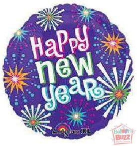 HNY Bright New Year 21-inch Foil Balloon