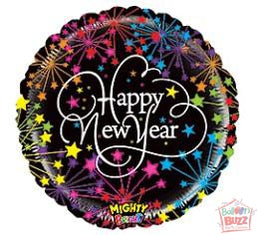 HNY Mighty Bright 21-inch Foil Balloon