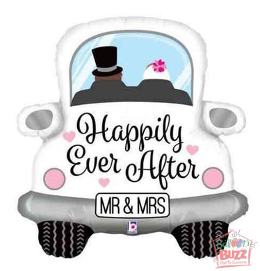 31-inch - Happily Ever After Car - Helium-Filled Foil Balloon