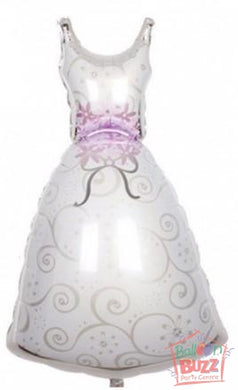 36-inch - Wedding Dress - Helium-Filled Foil Balloon