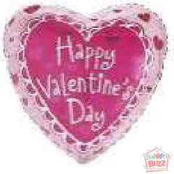 18-inch - Helium-Filled Lovely Hearts Foil Balloon