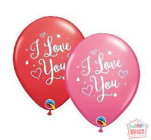 11-inch - Helium-Filled Love Hearts Script