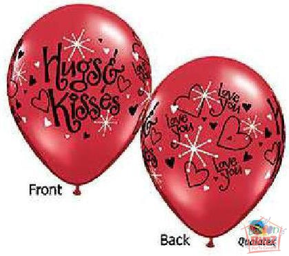11-inch - Helium-Filled Love Ruby Red