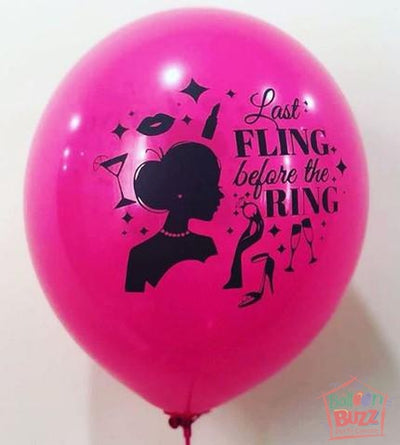 12-inch - Bachelorette - Helium-Filled Balloon