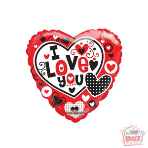 Love - 18 inch - Helium-Filled Foil Balloon