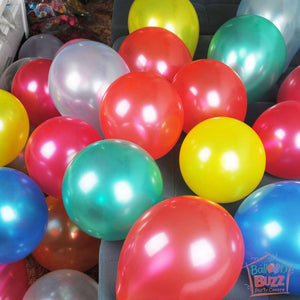 12 inch Round Metallic Balloon