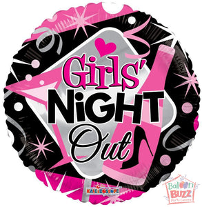 Girls Night Out - 18 inch - Helium-Filled Foil Balloon