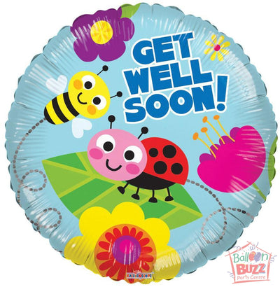Bugs Get Well Soon - 18 inch - Helium-Filled Foil Balloon