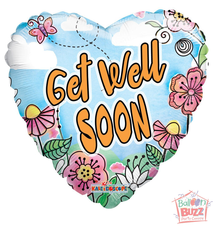 Spring Get Well Soon - 18 inch - Helium-Filled Foil Balloon