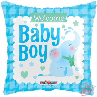 Boy Elephant - 18 inch - Helium-Filled Foil Balloon