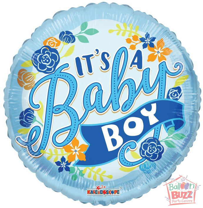 It's A Boy Banner - 18 inch - Helium-Filled Foil Balloon