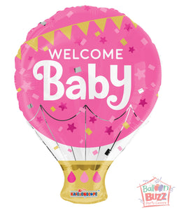 Welcome Baby Pink - 18 inch - Helium-Filled Foil Balloon