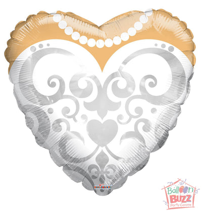 Bride's Dress - 18 inch - Helium-Filled Foil Balloon