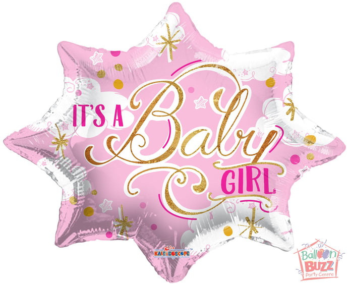 It's A Baby Girl - 18 inch - Helium-Filled Foil Balloon