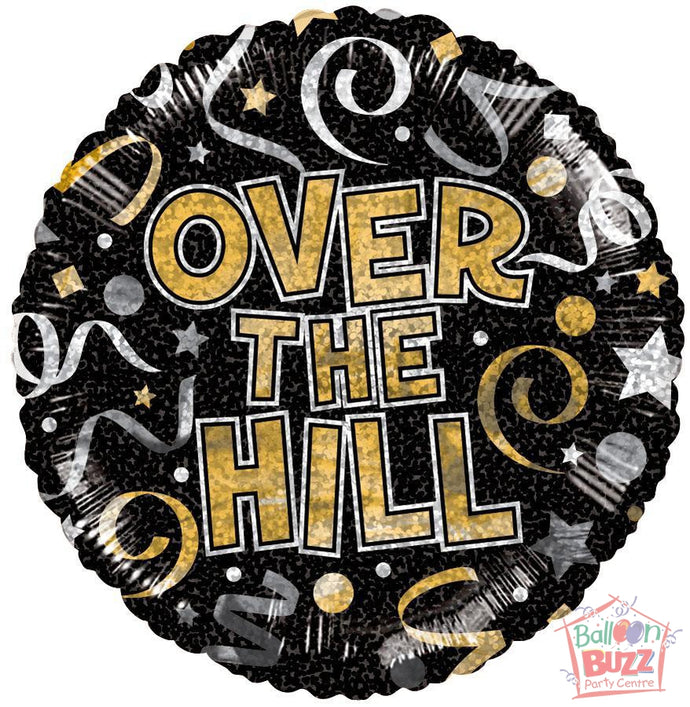 Over The Hill Holographic - 18 inch - Helium-Filled Foil Balloon