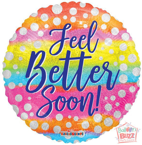 Feel Better Soon Holographic - 18 inch - Helium-Filled Foil Balloon