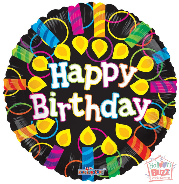Happy Birthday Candles - 18 inch - Helium-Filled Foil Balloon