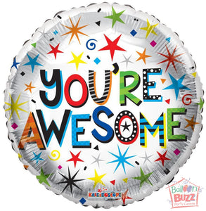 You're Awesome - 18 inch - Helium-Filled Foil Balloon