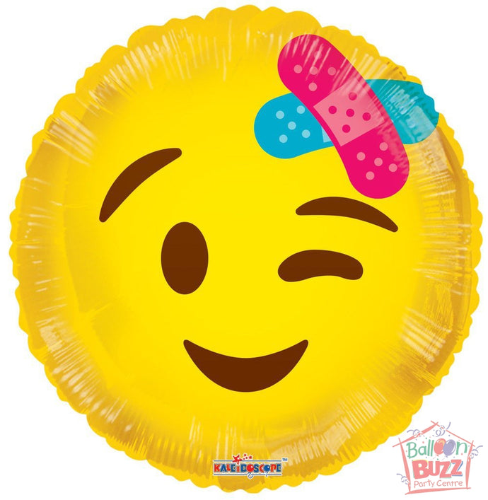 Smiley Bandage Get Well Soon - 18 inch - Helium-Filled Foil Balloon