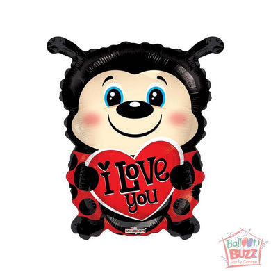 Lady Bug Shape - 18 inch - Helium-Filled Foil Balloon