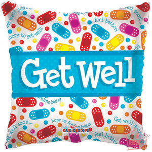 Band-Aids Get Well Soon - 18 inch - Helium-Filled Foil Balloon