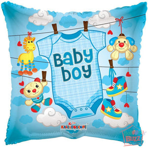 Boy Clothes - 18 inch - Helium-Filled Foil Balloon