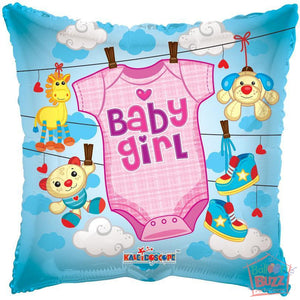 Girl Clothes - 18 inch - Helium-Filled Foil Balloon