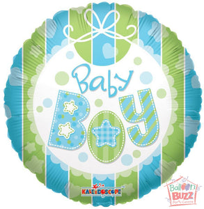 Boy Bib - 18 inch - Helium-Filled Foil Balloon