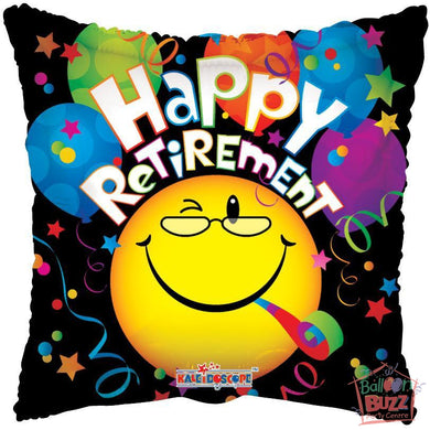 Retirement Smiley - 18 inch - Helium-Filled Foil Balloon