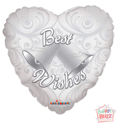 Best Wishes Bells - 18 inch - Helium-Filled Foil Balloon