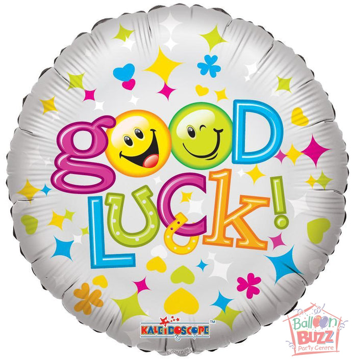 Good Luck Smiles - 18 inch - Helium-Filled Foil Balloon